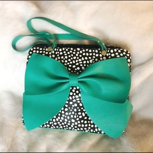 Betsey Johnson 'Oh You Didn't' Tote Huge Green Bow